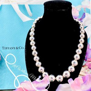 NWOT T&Co Tiffany HardWear Graduated Ball Necklace